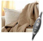 Sunbeam Microplush Electric Heated Blanket in Beige