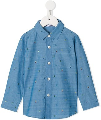 Familiar Embroidered Detail Shirt
