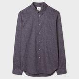 Paul Smith Men's Slim-Fit Navy 'Matchstick' Print Cotton Shirt