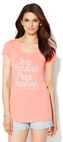 "New York & Co. ""Less Mondays More Fundays"" Tee"