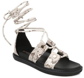 BCBGeneration Millie Lace Up Flat Sandals Women's Shoes