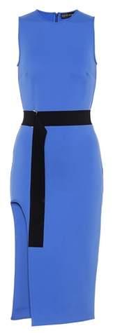 David Koma Belted scuba dress