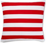 Stripes 20x20 Cotton Pillow, Red