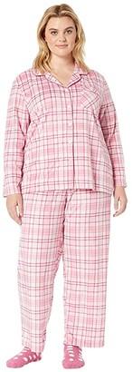 Karen Neuburger Plus Size Novelties Minky Long Sleeve Girlfriend PJ w/ Sock