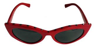 Valentino Red Plastic Sunglasses