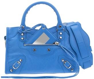 Balenciaga Royal Blue Classic Mini City Bag