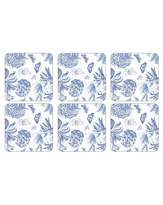 Portmeirion Botanic Blue - Coasters S/6