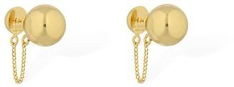 Jil Sander Small Sphere Stud Earrings W/ Chain