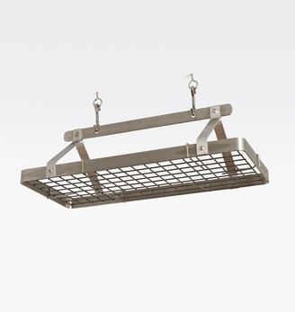 Rejuvenation 3' Griffin Ceiling Mount Rectangle Stainless Steel Pot Rack