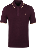 Fred Perry Port Marl Tipped Knitted Polo Shirt