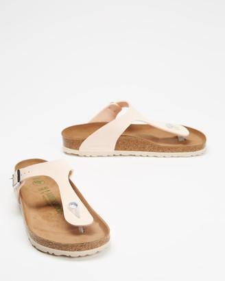 Birkenstock Women's Pink Flat Sandals - Gizeh Birko-Flor Regular Vegan Sandals - Women's - Size 36 at The Iconic