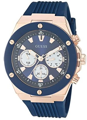 GUESS GW0057G2 (Blue/Rose Gold-Tone) Watches