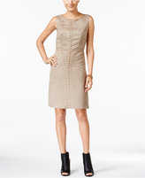 Jax Faux-Suede Studded Sheath Dress