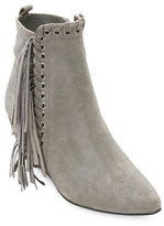 Matisse Sissy Suede Fringed Wedge Ankle Boots