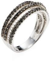 Rina Limor Fine Jewelry Women's Sterling Silver Black & White Diamond Five Row Ring