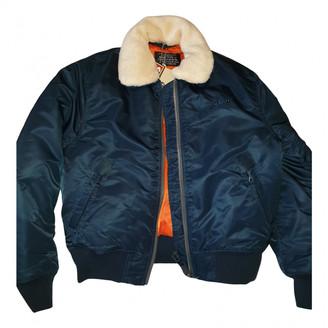 Schott Blue Polyester Leather jackets