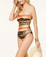 Carmen Marc Valvo Pacific Sunset Bandeau Cutout One-Piece Swimsuit Women's Swimsuit
