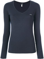 Armani Jeans branded top - women - Cotton/Spandex/Elastane - 36
