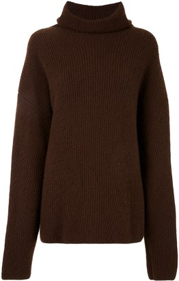 Sally LaPointe Ribbed Silk Cashmere Turtleneck