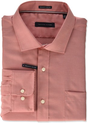 Tommy Hilfiger Men's Dress Shirt Non Iron Regular Fit Oxford Solid