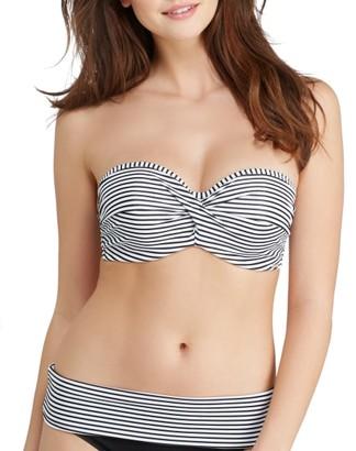 Panache Anya Stripe Bandeau Underwire Bikini Top