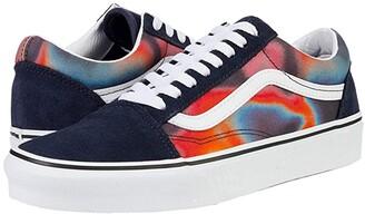 Vans Old Skool ((Dark Aura) Multi/True White) Skate Shoes