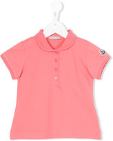 Moncler embroidered logo polo shirt - kids - Cotton/Spandex/Elastane - 4 yrs