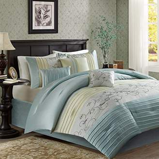 Madison Home USA Serene Cal King Size Bed Comforter Set Bed in A Bag