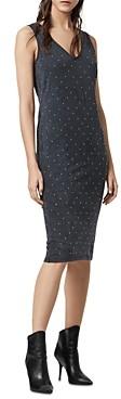 AllSaints Leigh Studded Sheath Dress