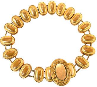 One Kings Lane Vintage Victorian Medallion Expansion Bracelet - Neil Zevnik - gold