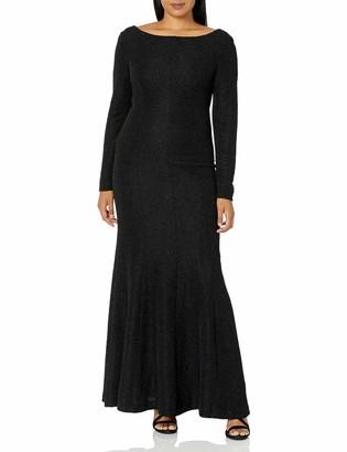 Eliza J Women's Long Sleeve Glitter Gown (Regular & Petite)