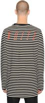 Off-White Striped Cotton Jersey T-Shirt