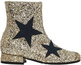 MonnaLisa Star Glittered Leather Ankle Boots
