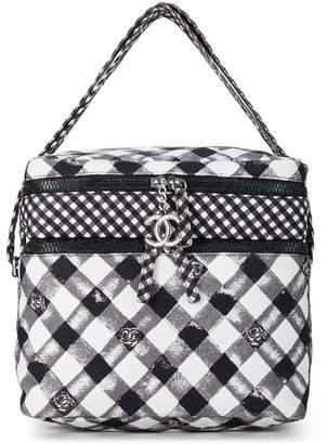 Chanel Black & White Plaid Travel Lunch Box