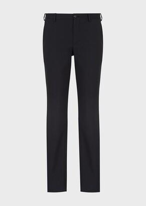 Giorgio Armani Regular-Fit, Virgin-Wool Trousers