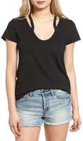 Pam & Gela Split Shoulder Tee