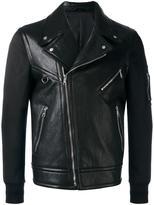 Neil Barrett bi-material biker jacket