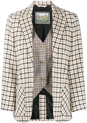 VIVETTA Layered Check Blazer