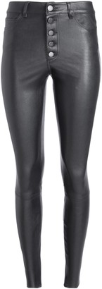 Alice + Olivia Mikah High Rise Leather Pant