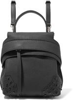 Tod's Wave Mini Embellished Textured-leather Backpack - Black