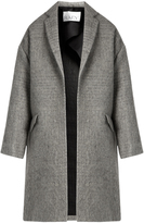 Raey Bouclé cotton and mohair-blend blanket coat