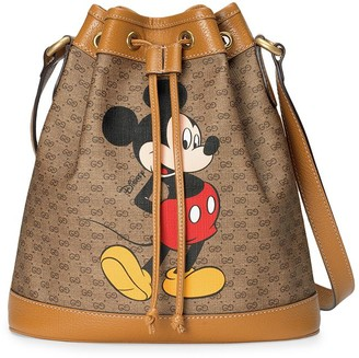Gucci x Disney GG Supreme canvas bucket bag