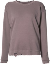 RtA distressed sweatshirt - women - Cotton - S