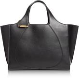 Victoria Beckham Black Leather Newspaper Tote Bag