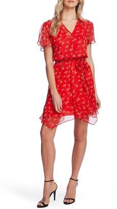 Vince Camuto Floral Waist Tie Mini Dress