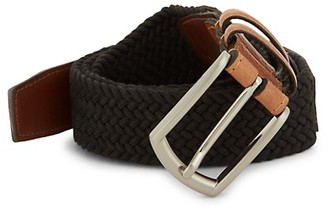 Saks Fifth Avenue Woven Contrast Belt