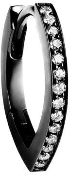 Repossi Antifer 18K Black Gold & Diamond Single Hoop Earring