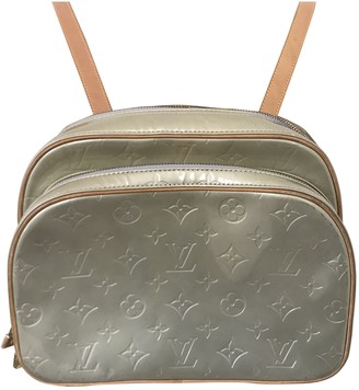 Louis Vuitton Murray Green Patent leather Backpacks