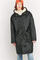 Uo Sherpa Lined Sideline Black Hooded Jacket