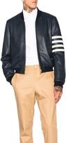 Thom Browne Fitted Deer Skin Varsity Jacket